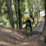 "Biker am Downhilll ""Tschack Norris"" Bikepark Brandnertal"