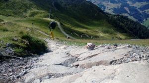 Steine im oberen Teil der Xline Saalbach