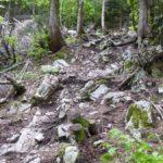 Steiler und verblockter Streckenabschnitt