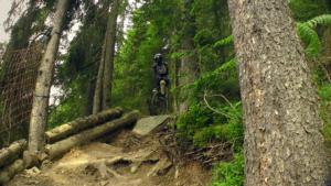 Hopfgarten WoodworX Downhill schwierige Stelle mit Stein und Wurzeln