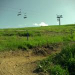 Gaisberg Trail - im Hintergrund der Gaisberg Sessellift
