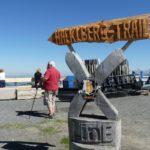Unübersehbarer Wegweiser zur X-Line und Hacklberg Trail