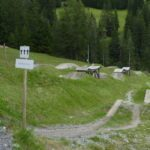 Slopestyle Area vor der Talstation im Bikepark Serfaus Fiss Ladis