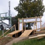 Neue Holz-Startrampe im Bikepark Wurbauerkogel