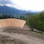 Wallride im Bikepark Wurbauerkogel Windischgarsten