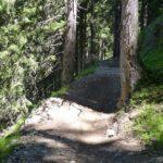 Kleiner Sprung vor einem Steilstück