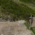 Anfahrt zum Steindrop mit ca. 1m Höhe