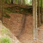 """""""Die Schlucht"""" am Ende des Freeride Trails Bikepark Steinach"""