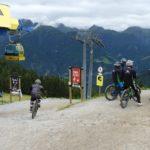 An der Bergstation des Bikeparks Serfaus-Fiss-Ladis