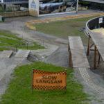 Dropbatterie im Zielbereich des Bikepark Serfaus Fiss Ladis