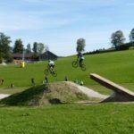 Logride im Zielbereich des Bikeparks Königsberg