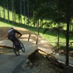 Mittlerer Wallride am Freeride im Bikepark Königsberg