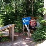 """""""Roadgap"""" über den Zugang zum Gasthof Ochsenkopfhaus"""