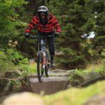 Felsiges Gelände im Bikepark Ochsenkopf
