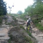 Steinfeld im Bikepark Ochsenkopf