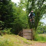 Obstacle im Bikepark Frammersbach