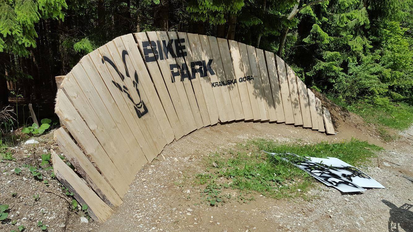 Wallride im Bikepark Kranjska Gora