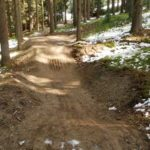 Blauer Trail im Bikepark Lipno