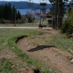 Exit Trail mit Blick auf den Stausee Lipno