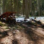 Sprung am roten Trail (ca 2,5 x 4 Meter)