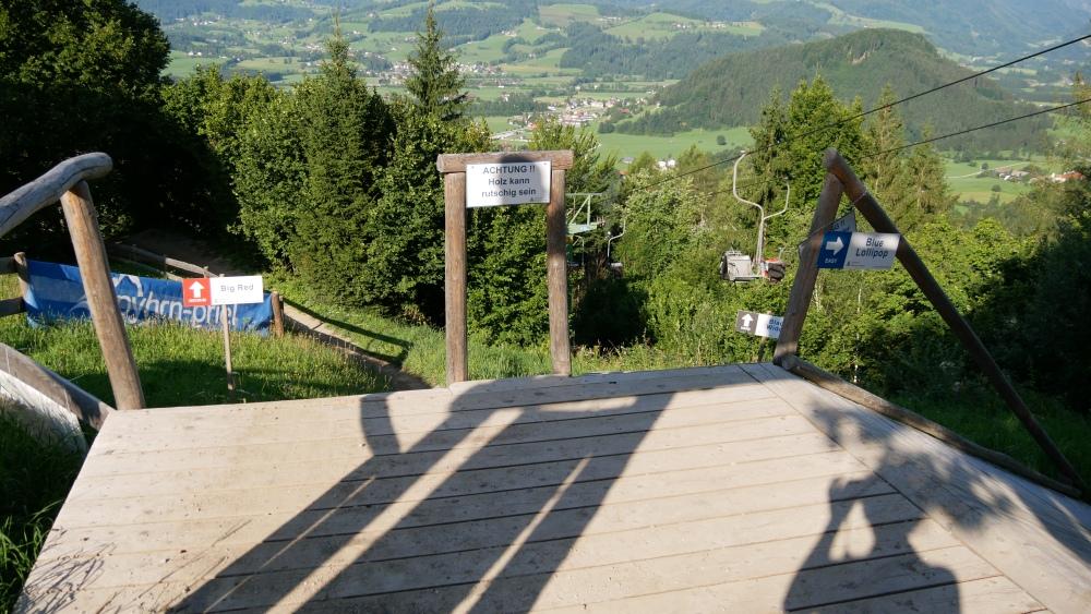 Startrampe des Bikeparks Wurbauerkogel
