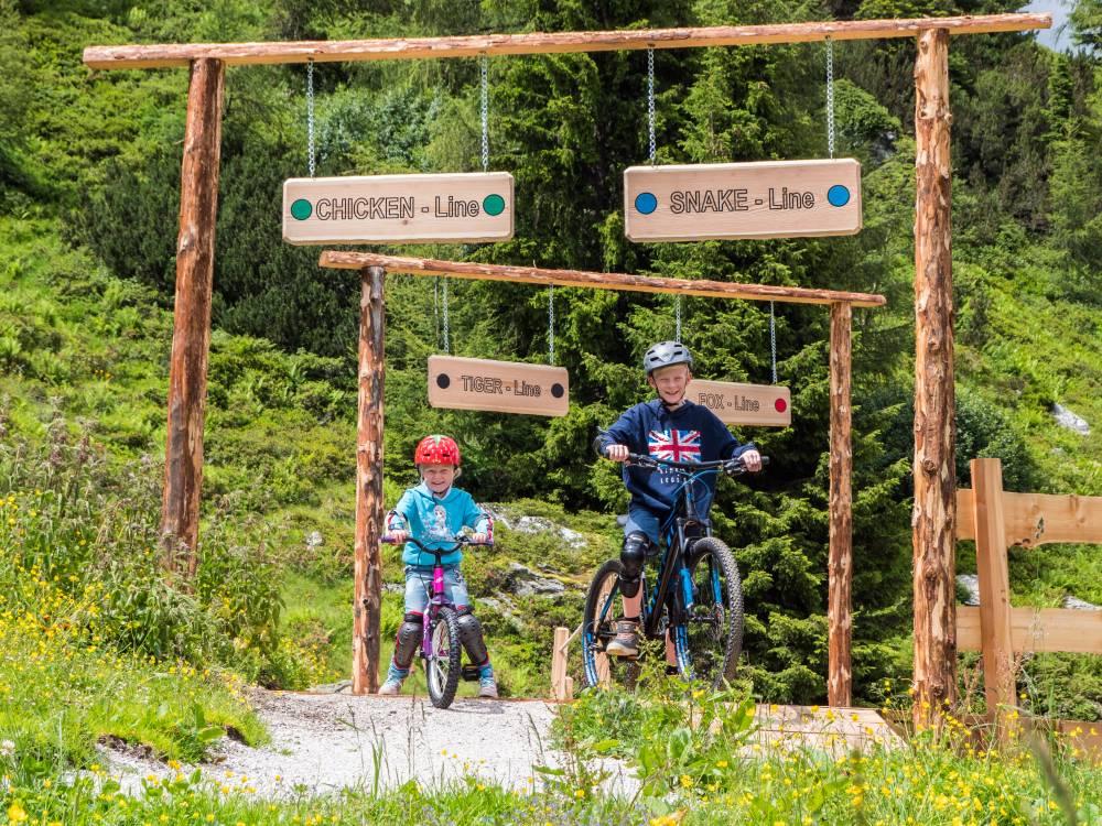 Start der Junior Trails Reiteralm