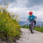 Erste Freeride Versuche auf den Junior Trails